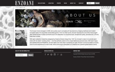 Screenshot of About Page enzoani.com - About us   Enzoani - captured Dec. 23, 2016