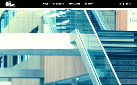 Screenshot of Services Page groupe-esc-troyes.com - Groupe ESC Troyes - captured Nov. 2, 2014