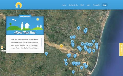Screenshot of Maps & Directions Page handsonhouses.com - Hands on Houses - captured Sept. 30, 2014