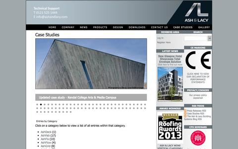 Screenshot of Case Studies Page ashandlacy.com - Case Studies - Ash & Lacy Building Systems - captured Oct. 4, 2014