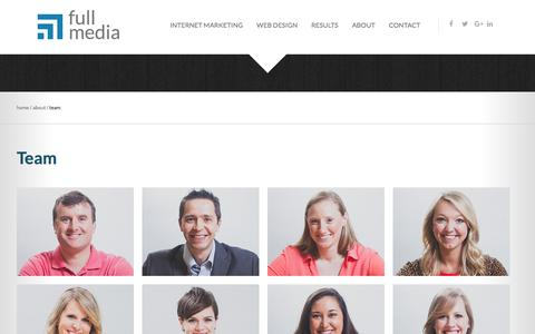 Screenshot of Team Page fullmedia.com - Meet Our Team | Full Media - captured Sept. 28, 2017