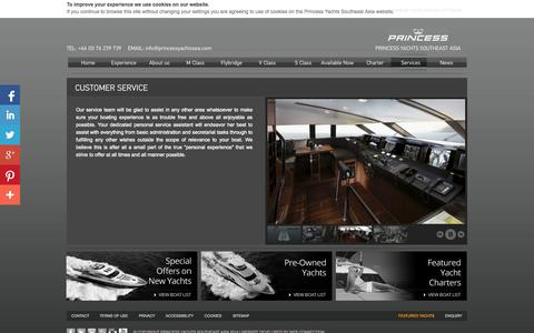 Screenshot of Support Page princessyachtssea.com - Customer Service - Princess Yachts Southeast Asia - Official Distributor of Princess Yachts - captured Oct. 3, 2014
