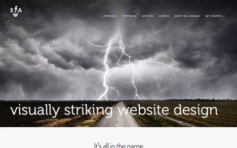 Screenshot of Home Page strikingalchemy.com - visually striking website design | Striking Alchemy LLC - captured Aug. 16, 2015