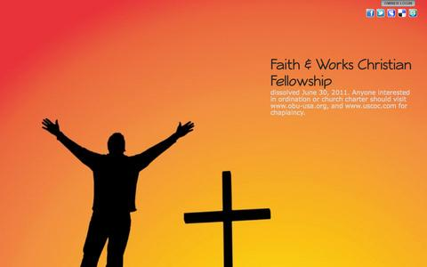 Screenshot of Home Page james2-26.org - Faith & Works Christian Fellowship - captured Oct. 5, 2014