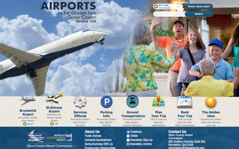 Screenshot of Home Page flygcairports.com - Glynn County Airports - Home - captured Oct. 8, 2014