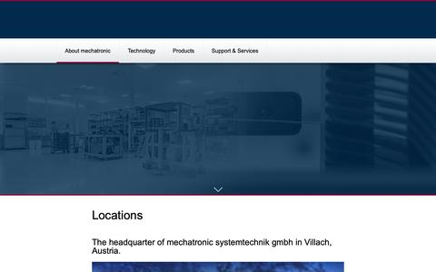 Screenshot of Locations Page mechatronic.at - Locations - Mechatronic Systemtechnik GmbH - captured Oct. 19, 2018