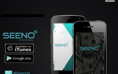 Screenshot of Home Page seeno6.com - Seeno6 - captured Oct. 1, 2014