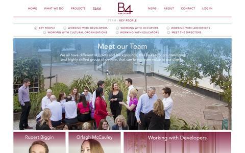 Screenshot of Team Page burofour.com - Team / Buro Four - captured Sept. 30, 2014