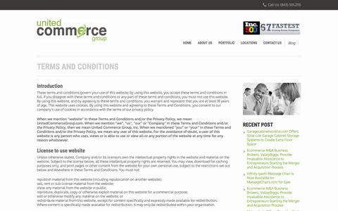 Screenshot of Terms Page unitedcommercegroup.com - Terms and Conditions – United Commerce Group - captured Dec. 2, 2016