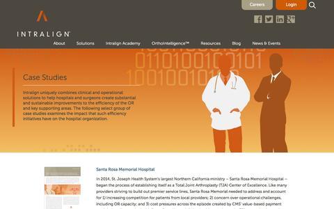 Screenshot of Case Studies Page intralign.com - Case Studies  : Intralign - captured Dec. 4, 2015