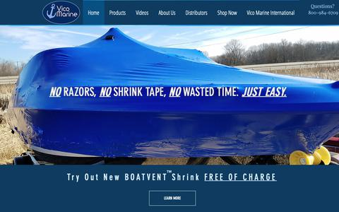 Screenshot of Home Page vicomarine.com - Boat Cover Vent   WI   Vico Marine Inc. - captured Oct. 20, 2018