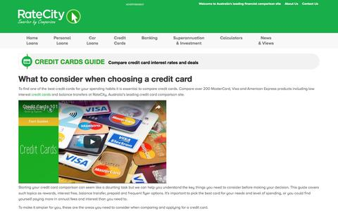 Credit Cards Guide | Read Hints and Tips | RateCity