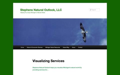 Screenshot of Support Page stephensnaturaloutlook.com - Besides nature consulting and programming, Stephens Natural Outlook provides photographic, writing and mapping services | Stephens Natural Outlook, LLC - captured Feb. 24, 2016