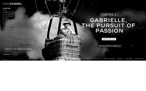 Inside CHANEL - GABRIELLE, THE PURSUIT OF PASSION