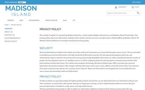 Screenshot of Privacy Page romanmonarch.com - Privacy Policy - captured Nov. 4, 2014
