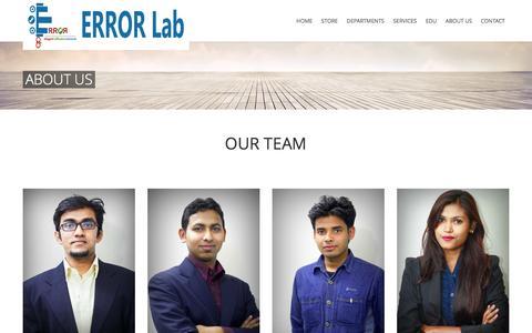Screenshot of About Page error-lab.com - About us | ERROR Lab - captured Nov. 4, 2014