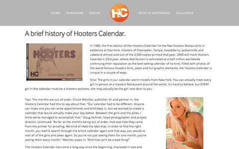Screenshot of About Page hooterscalendar.com - About Us — Hooters Calendar - captured March 13, 2016