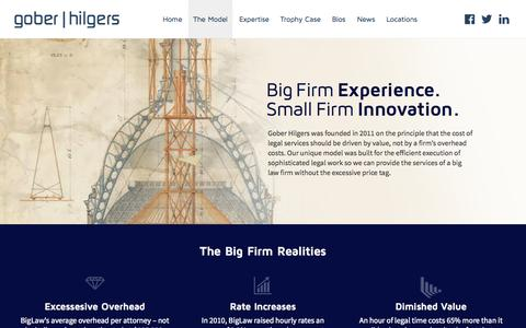 Screenshot of Home Page goberhilgers.com - The Model | Gober Hilgers - captured Sept. 19, 2015