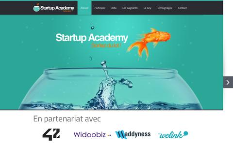 Screenshot of Home Page startup-academy.net - Programme d'accompagnement de Startups - Startup Academy - captured Jan. 26, 2015