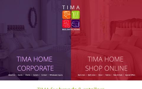 Screenshot of Home Page timahome.com - Tima :: Home - captured Feb. 16, 2016