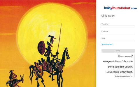 Screenshot of Login Page kolaymutabakat.com - Kolaymutabakat v3 - captured Dec. 20, 2018