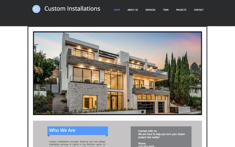 Screenshot of Home Page custom-installations.com - Custom-Installations - captured Nov. 5, 2018
