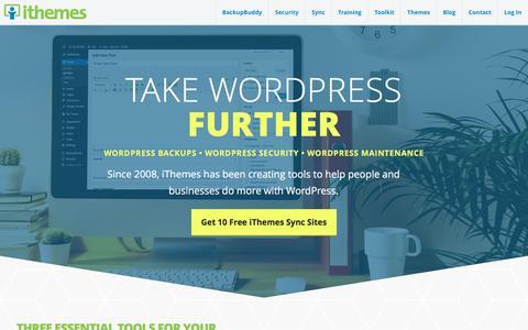 Screenshot of Home Page ithemes.com - iThemes: Premium WordPress Plugins & Tools - captured June 8, 2017