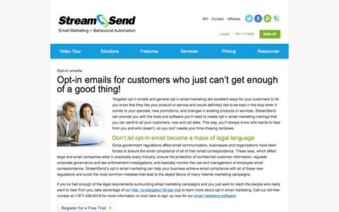 Opt In Emails, Opt In Email Marketing - StreamSend