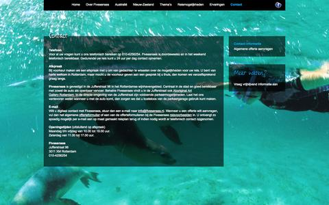 Screenshot of Contact Page fivesenses.nl - Contactgegevens - Fivesenses - captured Sept. 30, 2014