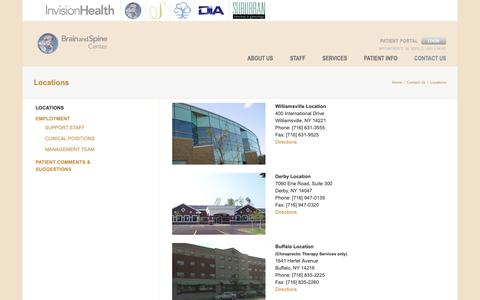 Screenshot of Locations Page mybrainandspine.com - Locations - My Brain and Spine Center - captured Oct. 6, 2018