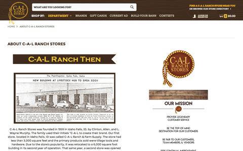 Screenshot of About Page calranch.com - C-A-L Ranch was established in 1959 to provide farm, ranch and home supplies to customers in the West. - captured Sept. 25, 2018
