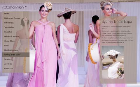 Screenshot of Blog natashamillani.com.au - Sydney Bridal ExpoNatasha Millani Bridesmaid Dresses Online - captured Nov. 3, 2017