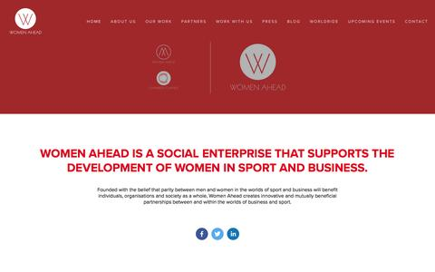Screenshot of Home Page women-ahead.org - Women Ahead - captured Jan. 22, 2016