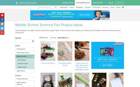 Middle School Science Fair Project Ideas | Education.com