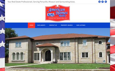 Screenshot of Home Page ahreal.com - Perryville MO Real Estate |  | Real Estate Agent | Perryville, MO Homes For Sale - captured Sept. 11, 2015