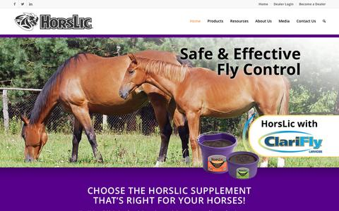 Screenshot of Home Page horslic.com - Home | HorsLic® - captured Nov. 12, 2016