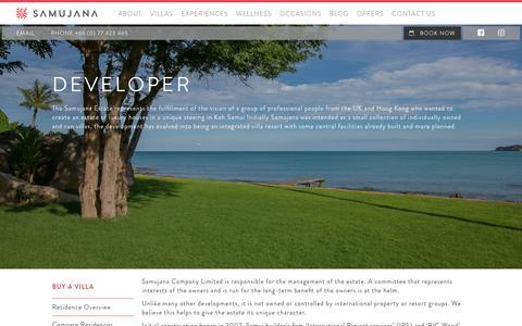 Screenshot of Developers Page samujana.com - Developer - Samujana - captured May 26, 2017