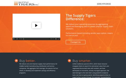 Screenshot of Home Page supplytigers.com - The Supply Tigers Difference - captured Dec. 17, 2016