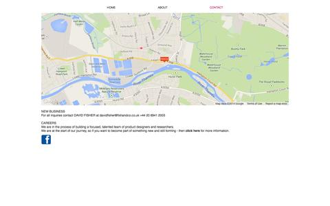 Screenshot of Contact Page fishandco.co.uk - Fish&Co | Contact - captured Oct. 6, 2014