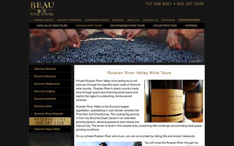 Russian River Valley Wine Tours - Private Wine Tasting - Limo Tour