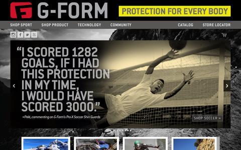 Screenshot of Home Page g-form.com - G-Form - captured Nov. 10, 2015