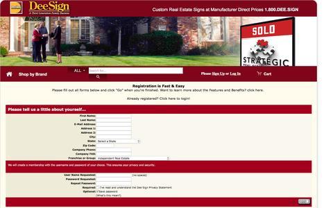 Screenshot of Signup Page deesign.com - Registration at DEESIGN - captured Oct. 20, 2015