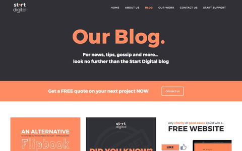Screenshot of Blog startdigitalpublishing.com - Start DigitalCreative agency blog from Start Digital | marketing news and events - captured Oct. 24, 2017