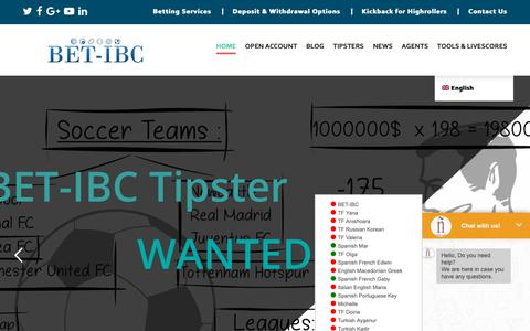 Screenshot of Home Page bet-ibc.com - BET-IBC – Leading betting Agent with no Betting Limits! - captured April 15, 2019
