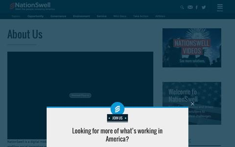 Screenshot of About Page nationswell.com - NationSwell - About Us - captured Jan. 25, 2016