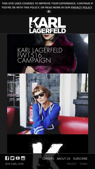 Screenshot of Home Page  karl.com - Karl Lagerfeld
