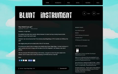 Screenshot of Press Page blunt-instrument.com - News | Blunt Instrument Studios - captured Oct. 5, 2014