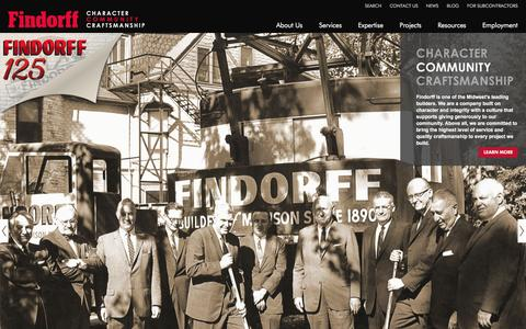 Screenshot of Home Page findorff.com - J.H. Findorff & Son Inc.   Wisconsin Construction Services - captured Jan. 27, 2016