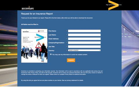 Screenshot of Landing Page accenture.com - Spatial Risk Diffusion - captured Oct. 29, 2016