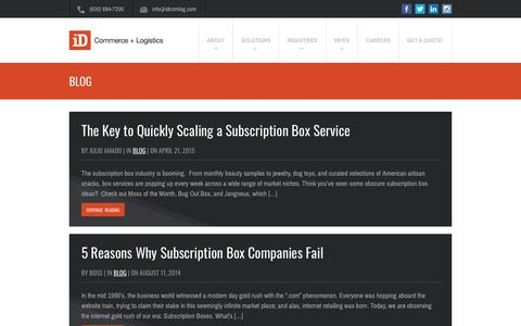 Screenshot of Blog idcomlog.com - Blog Archives - Page 3 of 3 - iD Commerce + Logistics - captured Sept. 13, 2018